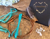Turquoise Diy dream catcher kit , moonstone , natural dreamcatchers