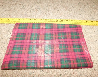 Metallic Plaid red Green Christmas   Yardage   SALE Destash   By the yard  44/45 wide