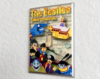 Yellow Submarine Lightswitch Light Switch Plate Cover Kids Room Decor The Beatles
