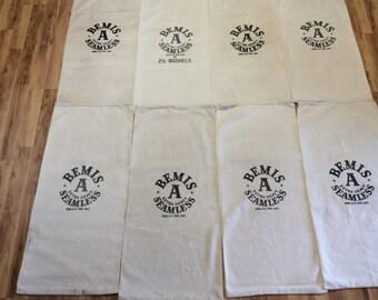 8 pack of Vintage Bemis A sacks. 1113167