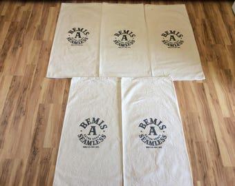 5 Bemis A Extra Heavy Seamless vintage sacks 420177