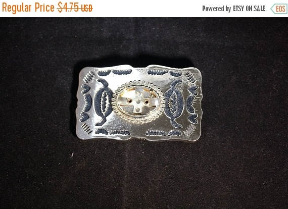 Craft Sale - Gold with Black Inlay Plated Belt Buckle   35-1071A-04