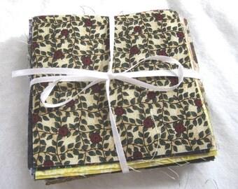 4-inch fabric charm squares.  100 Vintage Cotton Quilt Squares.  Assorted Quilting Scraps Pieces Remnant Bundle. 4 by 4 blocks