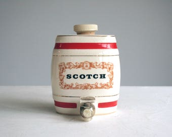 miniature wade royal victoria pottery scotch barrel home bar