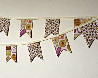 Sweet Biscuit Pennant Fabric Bunting (180cm)