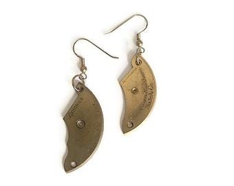 Brass Watch Bridge Plates Earrings