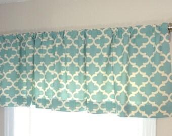 Curtain Valance Topper Window Valance Treatment Red Navy Yellow Village Blue Fulton Geometric 15x52