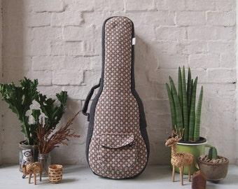 Concert ukulele case - Woven Cotton Ukulele Case. (Ready to ship)