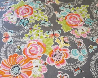 Blend Fabrics - Field Day - Main Floral in Gray - BTY - OOP / HTF