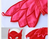 ON SALE Owlette Wings and Mask - Felt wings and Mask owlette - Owl felt wings - Owlette Costume - Owlette Birthday