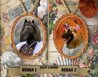 Belgian Tervuren Jewelry. Tervuren  Pendant or Brooch. Tervuren Necklace. Tervuren Portrait. Custom Dog Jewelry by Nobility Dogs