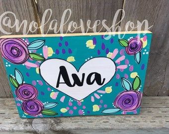 Custom name sign| hand painted name| kids name sign| personalized sign| kids bedroom decor| kids birthday sign| kids birthday gift