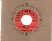 Johnny Horton 45 rpm The Battle of New Orleans