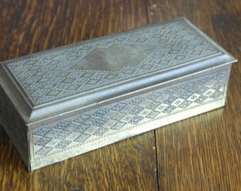 vintage metal brass finish box