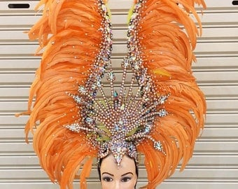 Diamond Queen Crystal Dance Vegas Showgirl Pageant Headdress