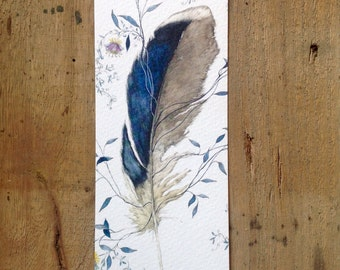 Bookmark with feather