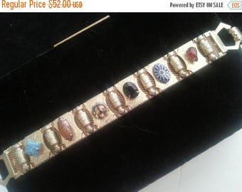 On Sale Vintage 1950's 1960's Rhinestone Bracelet Mad Men Mod Retro Vintage Jewelry