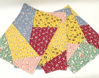 Kids Placemats - Set of Placemats Kids - Vintage Placemats - Kids Table Linens - Childrens Placemats Childs - Kids Kitchen Linens