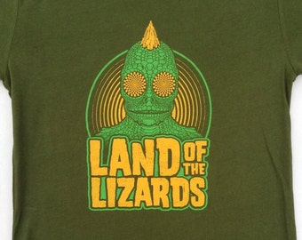 Phish Lizards lot tee shirt - silkscreened original art - Trey, Grateful Dead, hippie, 420, lsd