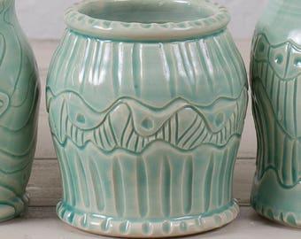 Bud Vase, Celadon Vase, Stoneware Vase, Wheel Thrown Vase, Handmade Vase, Wheel Thrown Pottery, Nature Vase, Celadon Pottery, Handmade Vase