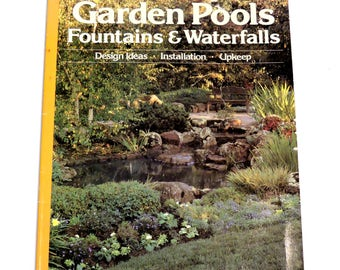 Waterfall design etsy for Garden pond design books