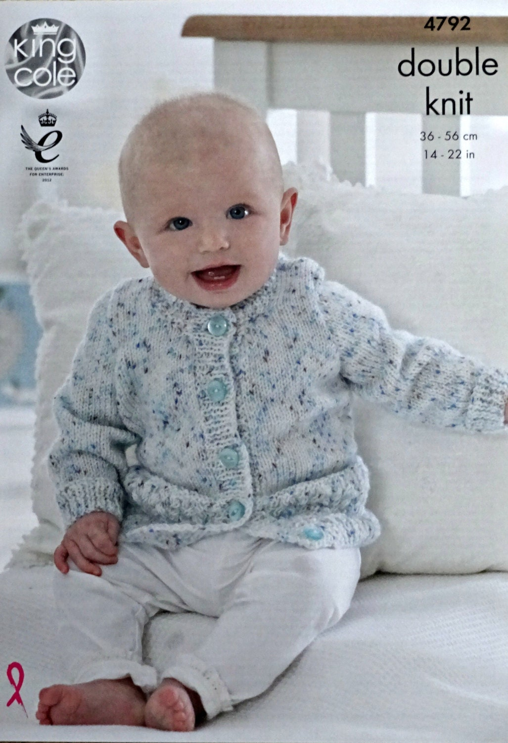 Baby Knitting Pattern K4792 Babys Cable Hem Jumpers and ...