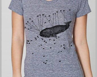 Aviation Whale - Women's T Shirt - Large - American Apparel