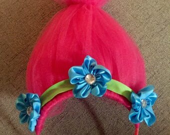 Poppy Troll Hair Headband, Troll, Poppy the Troll, Headband