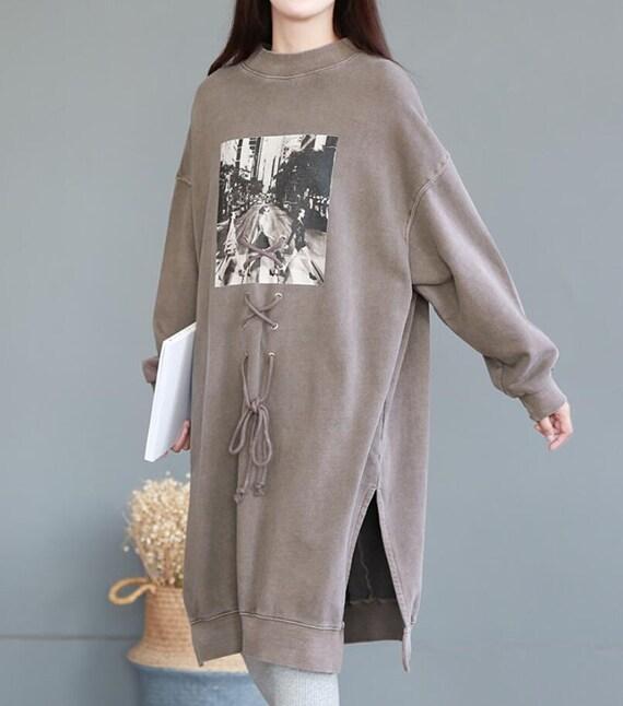 Womens Bat sleeve large size dress Loose Fitting maternity dress