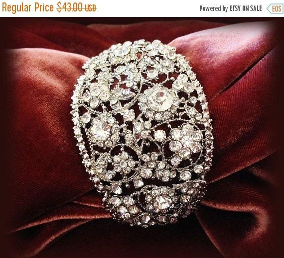 bridal bracelet bridal cuff crystal cuff vintage by