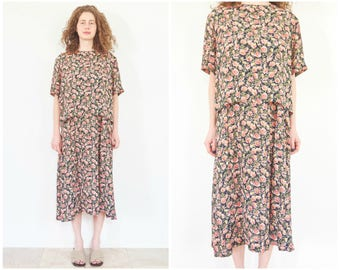 90s Slouchy Floral Sun Dress