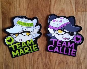 Splatoon Squid Sisters Callie and Marie - Vinyl Stickers
