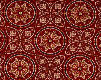 Two Custom 20 x 20 Pillow Covers - Indoor/Outdoor - Floral Geometric Suzani - Red Orange Navy LIme Brown