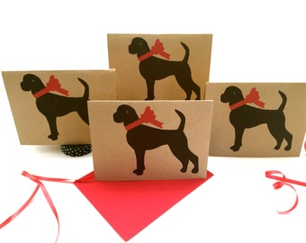 Boxer Dog Card Set % to ANIMAL RESCUE ECO Friendly Pack Blank Cards Holiday Thank You German Birthday Christmas Gift Wrap, Red, pet sympathy