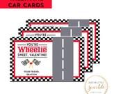 Car Valentine Tag, Valentine tag, Race Car tag, Personalized Valentine tag, I wheelie like you