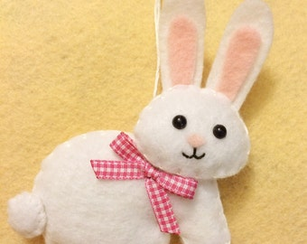 Easter Bunny - Easter Decor - Bunny Ornament - Easter Ornament - Easter Decor - Felt Bunny - Easter Rabbit - Felt Ornament - Bunny Gift
