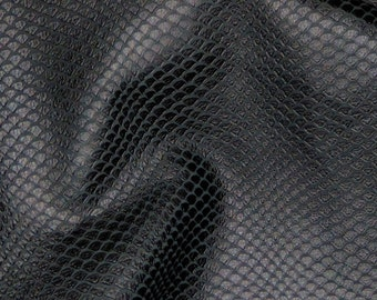 """Leather 8""""x10"""" Matte Black Anaconda or Sea SNAKE embossed  Cowhide 3oz / 1.5 mm PeggySueAlso™"""
