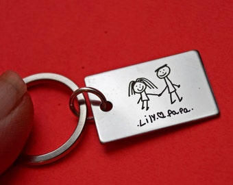 Handwritten accessories, Keychain for men, handwriting keychain, gift for him, key chains, gift for men, personalized gift, accessories