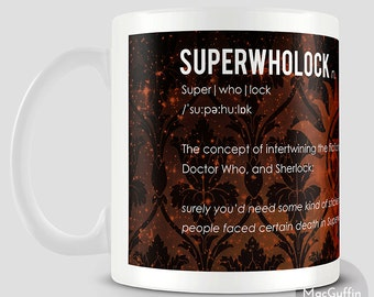 Superwholock fandom definition mug