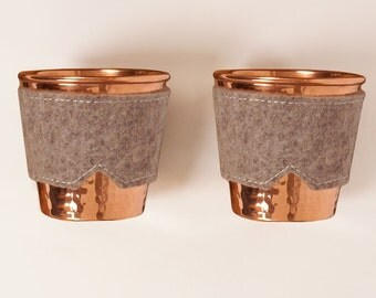 Copper mug & natural felt sleeve set | Son of a Sailor + Sertodo Copper Collaboration