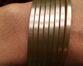 """Moon Glow Lucite Bangles 1/8"""" 9.50 each Sold separately"""