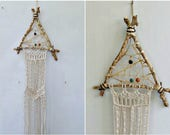 Dreamcatcher Wall Hanging Macrame, Ethnic Macrame Wall Art, Boho Dreamcatcher Wall Hanging, Woven Wall Tapestry, Dream Catcher Wall Hanging