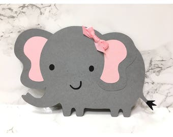 Elephant cut outs die cut baby shower for diaper cake centerpiece