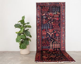 ARMINEH 3.5x10 Hand Knotted Persian Rug Runner