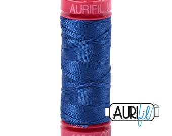 Medium Blue Aurifil Thread - 218 Yard Spool - 50 Weight Cotton Thread - 2735