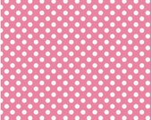 SHOP CLOSING SALE Polka Dot Fabric by the yard Riley Blake Small Dot in Hot Pink