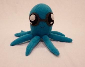 SALE- Aqua Glasses Octopus Plushie