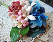 Antique Vintage Velvet Millinery Flowers Posy - #35