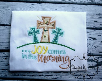 Joy Comes in the Morning,Breast Cancer Fighter, Christian Apparel,Religious Easter shirt - cross Easter shirt - Christian Easter shirt-Joy