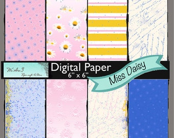 We Are 3 Digital Paper, Miss Daisy